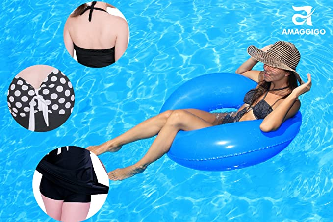 ALICECOCO Femme Maillot de Bain Push Up Rembourr/é Amincissant Bikini Style Robe Tankini Grande Taille Beachwear