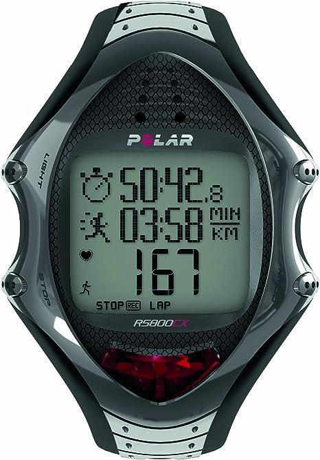 Polar RS800CX - Reloj para triatlón con pulsómetro, Sumergible y Compatible con GPS, Sensor de zancada, de cadencia y de Velocidad: Amazon.es: Deportes y aire libre