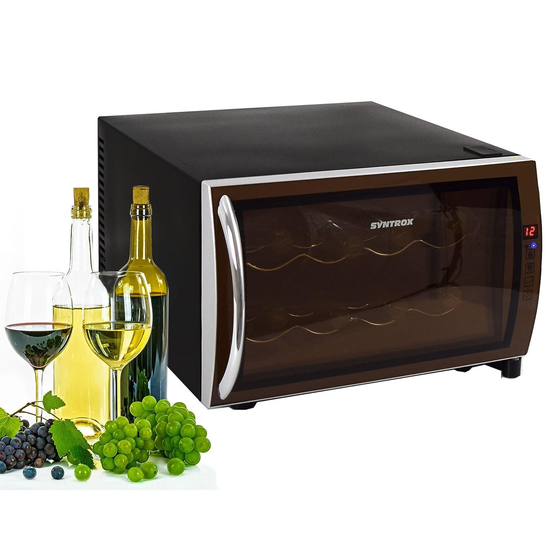 Syntrox Germany 8 Flaschen Digitaler Getränkekühlschrank WK-25L-8-2 Weinkühlschrank mit Touch Screen Chef Kühler WK-25L-8-2