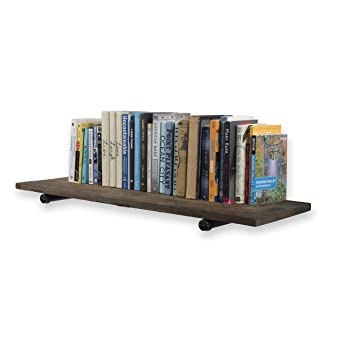 Cool Rustic State Sturdy Construction Reclaimed Wood Floating Wall Shelf By Rustic State 36 Inch With Industrial Style Pipe Brackets Walnut Download Free Architecture Designs Rallybritishbridgeorg