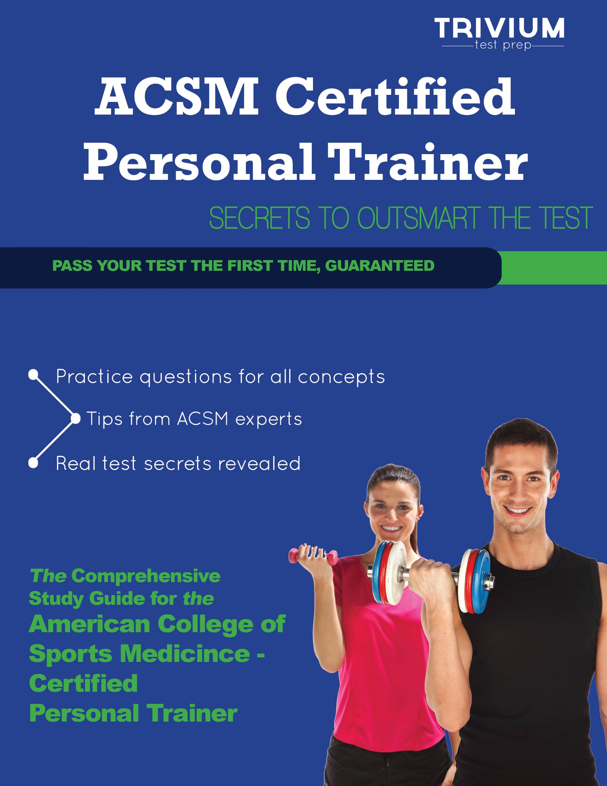 ACSM Certified Personal Trainer Study Guide 2013 - Secrets to Outsmart the  CPT: Trivium Test Prep: 9781939587558: Amazon.com: Books