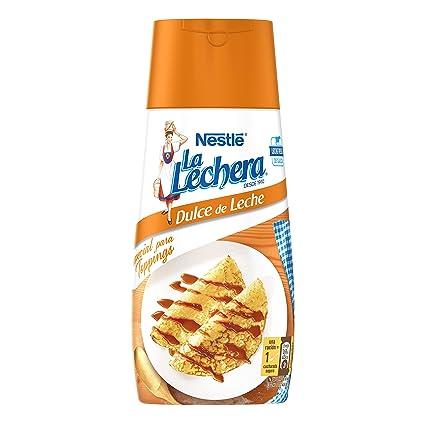 Nestlé La Lechera Dulce de leche, Leche condensada - Botella sirve fácil 450 gr