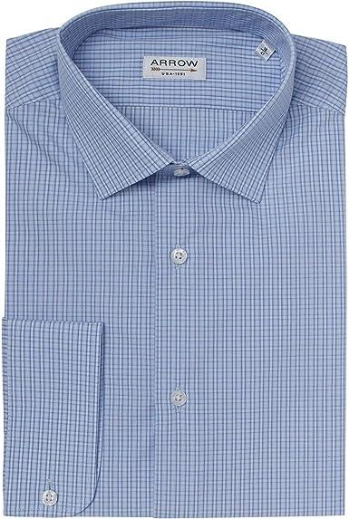 ARROW - Camisa de Cuadros pequeños, Color Azul: Amazon.es: Ropa y accesorios