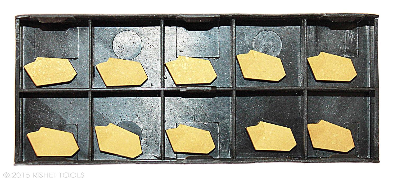 Self Locking Cut-Off Inserts GTN-3 5 Pc. TiN Coated