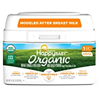 Happy Baby Organic Infant Formula Milk Based Powder with Iron, Stage 1, 21 Ounces...