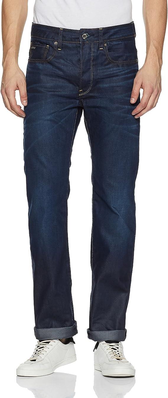 TALLA 28W / 34L. G-STAR RAW 3301 Straight Classic Jeans para Hombre