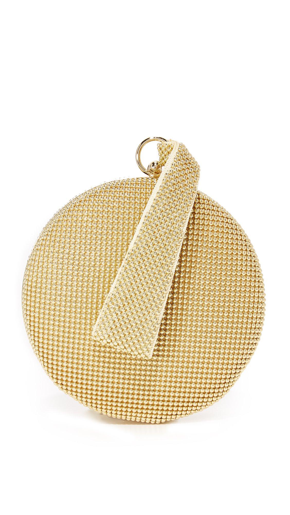 Whiting & Davis Women's Canteen Wristlet, Gold, One Size