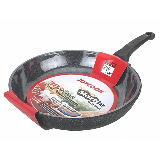 Amazon.com: JOYCOOK Ceramic Marble Coated Cast Aluminum Non Stick Fry Pan: Kitchen & Dining