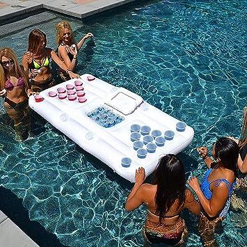 ZXGQF Flotador Hinchable para Jugar al Beer Pong, Tablero ...