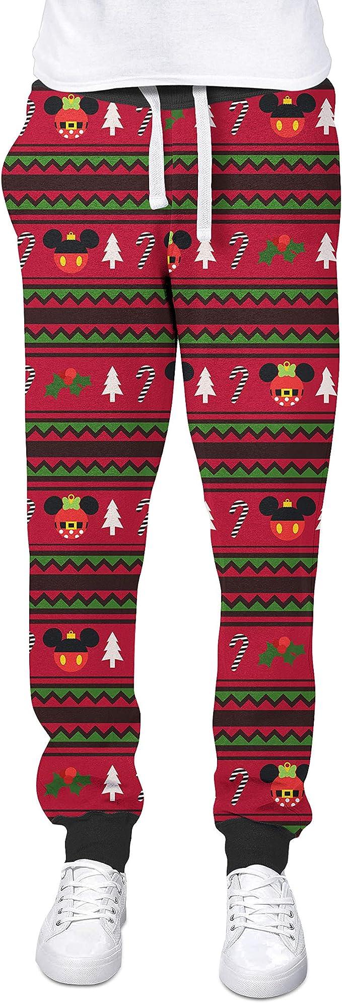 Christmas Mickey /& Minnie Sweater Pattern Disney Inspired Yoga Leggings
