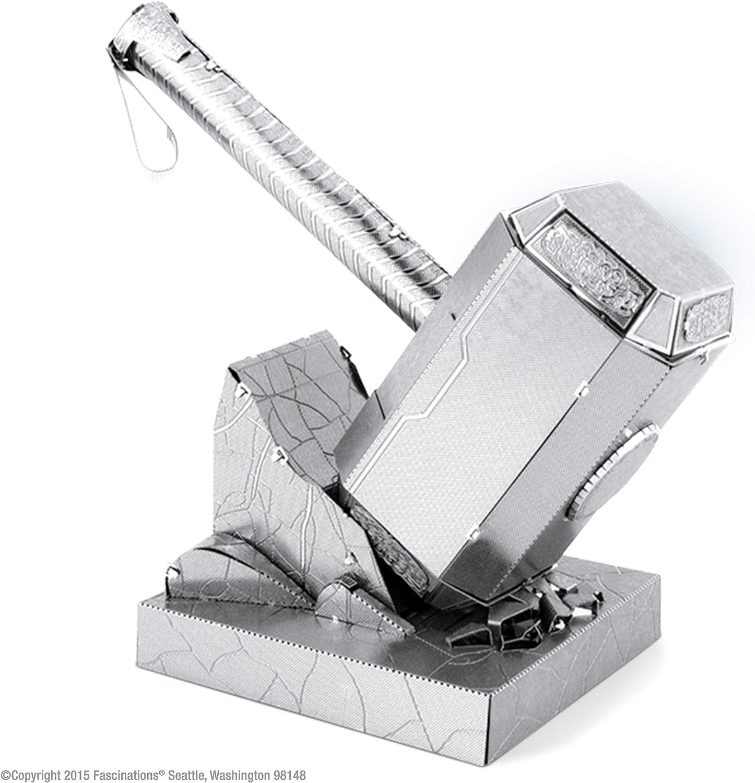 Amazon Com Fascinations Metal Earth Marvel Mjolnir Thor S Hammer