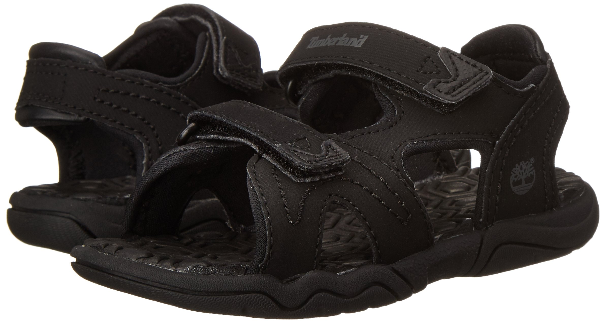 Timberland Adventure Seeker Two-Strap Sandal (Toddler/Little Kid),Blackout,9 M US Toddler by Timberland (Image #6)