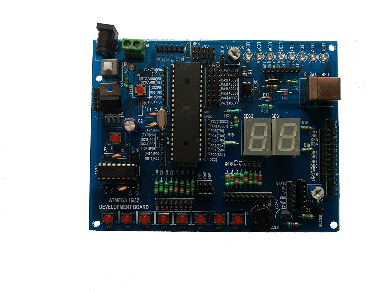 Embeddinator Avr Atmega16 32 Microcontroller Development Board Basics Updated Using An Accelerometer With