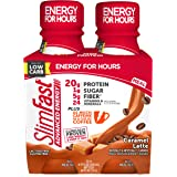 SlimFast Advanced Energy Caramel Latte Shake – Ready to Drink Meal Replacement – 20g Protein - 11 Fl. Oz. Bottle - 4…