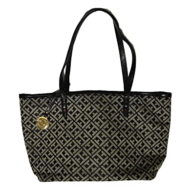 103fe977047 Tommy Hilfiger Small Shopper Purse Handbag Black: Handbags: Amazon.com