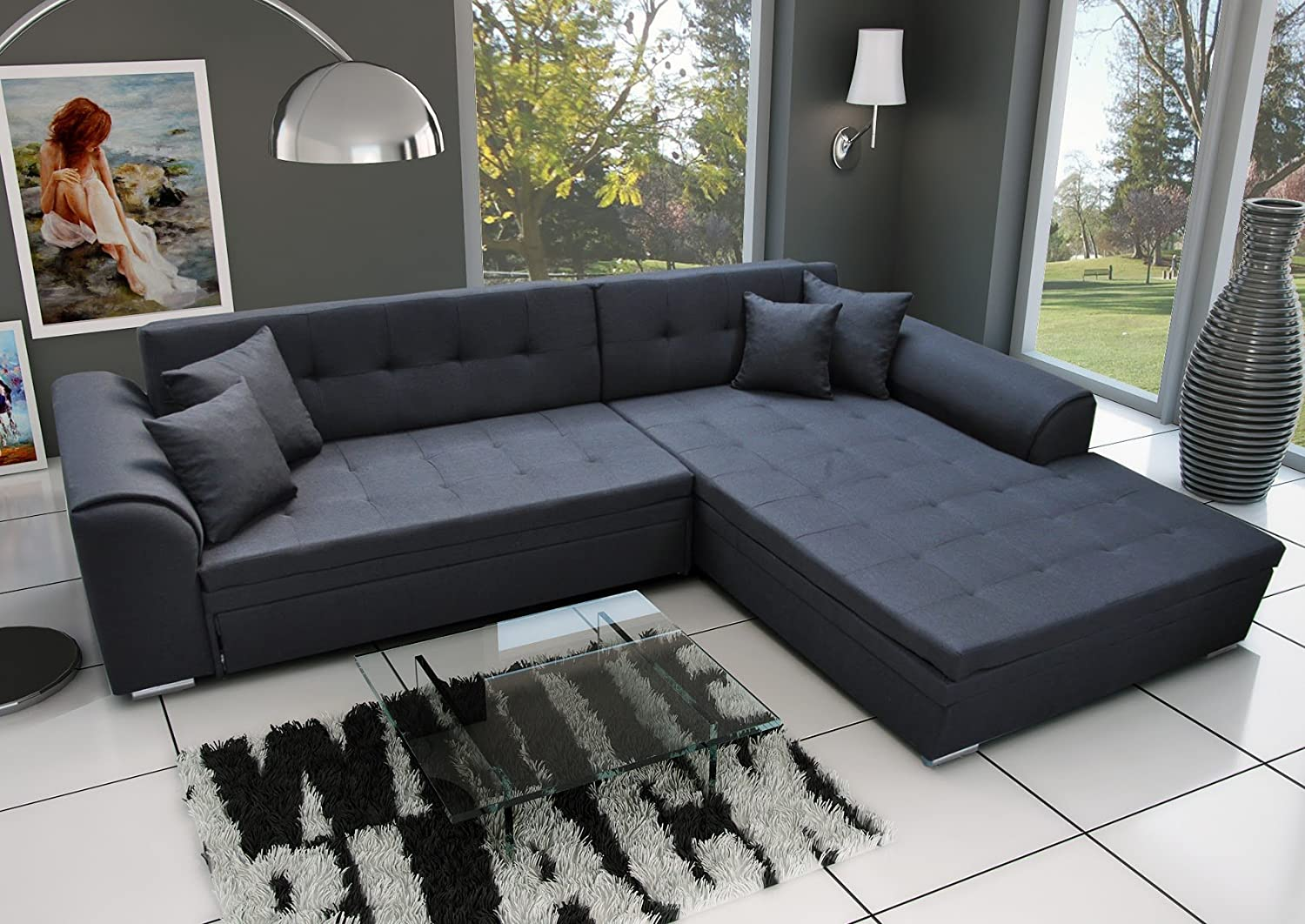 couch couchgarnitur sofa polsterecke sorento wohnlandschaft schlaffunktion g nstig kaufen. Black Bedroom Furniture Sets. Home Design Ideas