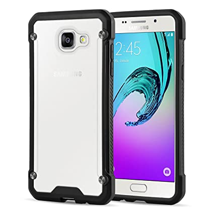 style populaire meilleure vente bien connu Galaxy A5 (2016) Case, JAMMYLIZARD [BEETLE] Heavy Duty Protective Silicone  Transparent Back cover for Samsung Galaxy A5 (6) 2016, Black/Clear