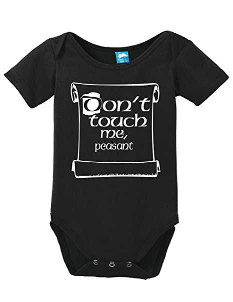 36cbc4311dc65 Dont Touch Me Peasant Printed Infant Bodysuit Baby Romper Black 0-3 Month