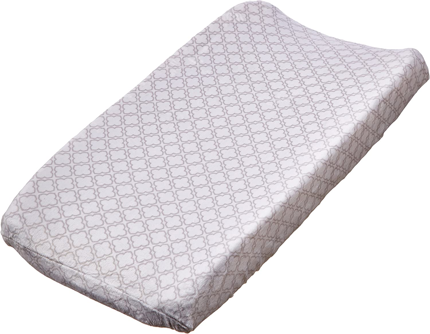 Carters Changing Pad Cover Grey Trellis Print One Size