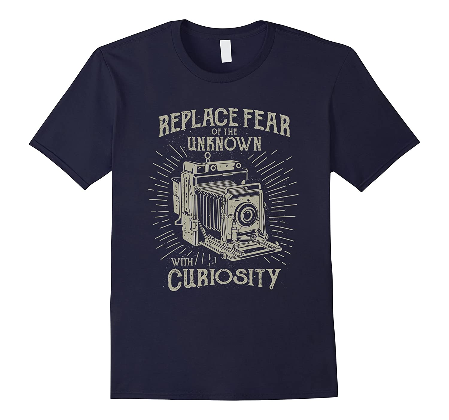 Fear Of The Unknown Vintage Camera T-Shirt-TD