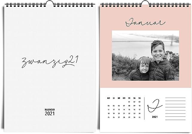 A4 Fotokalender Fur 2021 Von Heaven Paper Edler Bastelkalender Und Moderner Jahreskalender In Sanften Farben Zum Selbstgestalten Basteln Verschenken Amazon De Kuche Haushalt