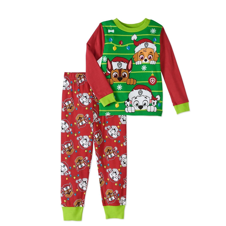 Nickelodeon Paw Patrol Little Boys Girls Toddler Christmas Pajama Set AME