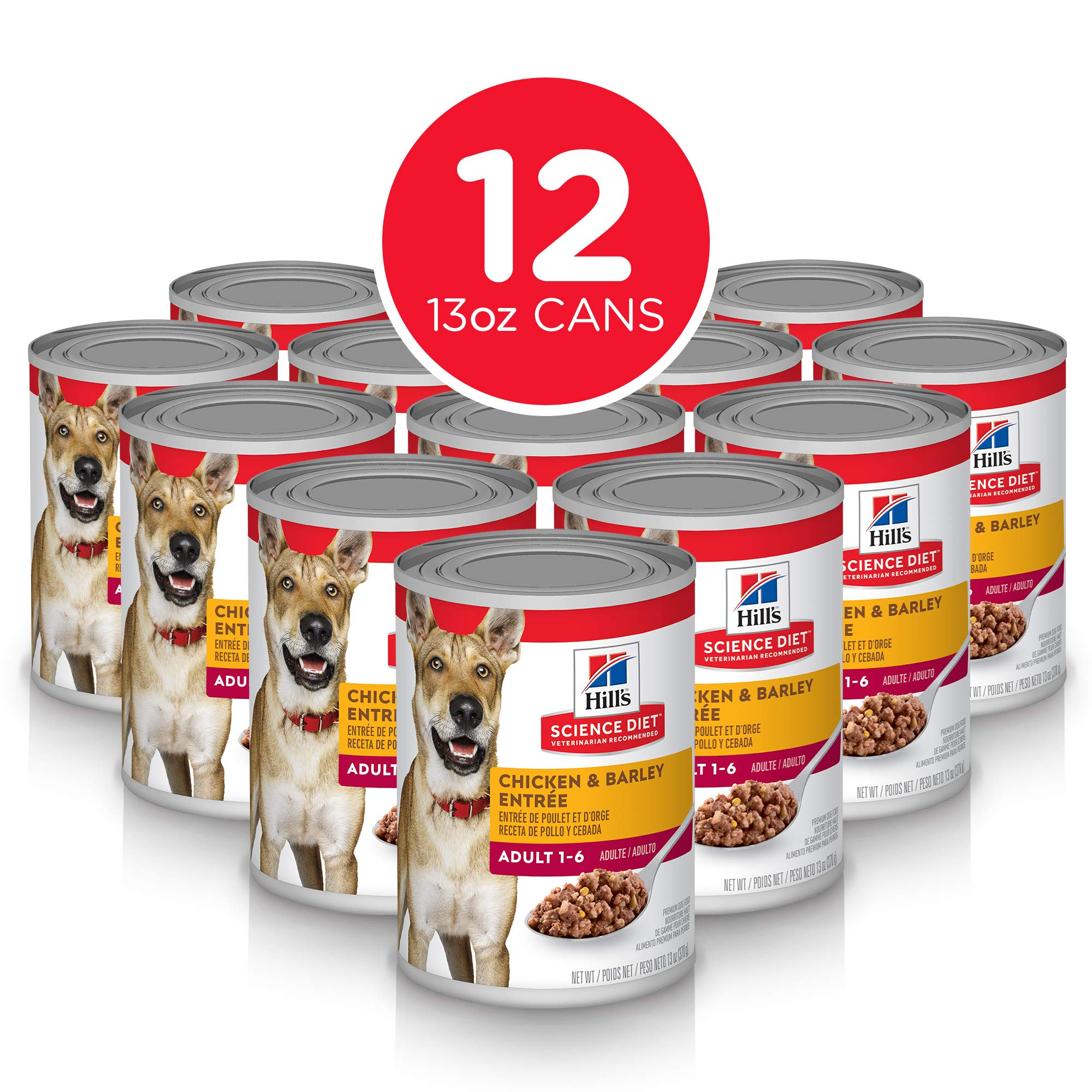 Hill's Science Diet Wet Dog Food, Adult, 13 oz Cans, 12 Pack by Hill's Science Diet
