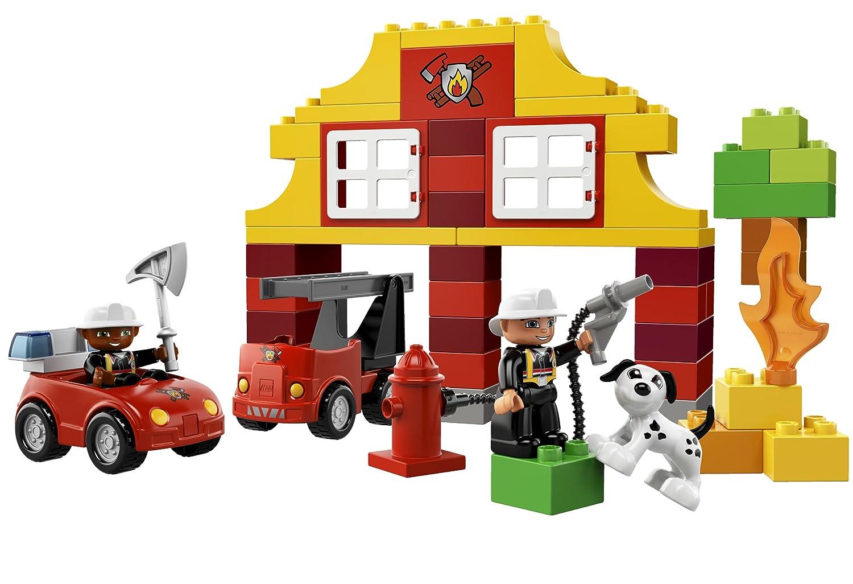 Jeu de Construction LEGO DUPLO Briques 6138 Ma Premi/ère Caserne de Pompiers