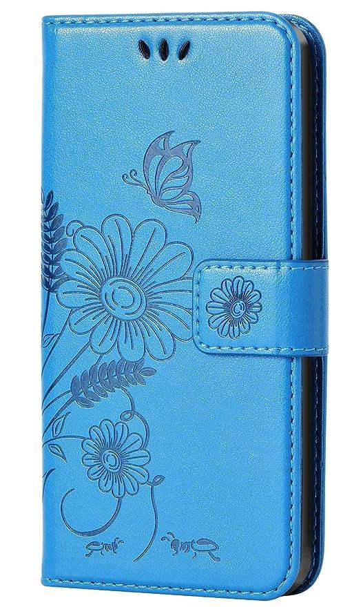 coque iphone 5 portefeuille bleu