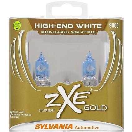 SYLVANIA - 9005 (HB3) SilverStar zXe GOLD High Performance Halogen Headlight Bulb - Bright