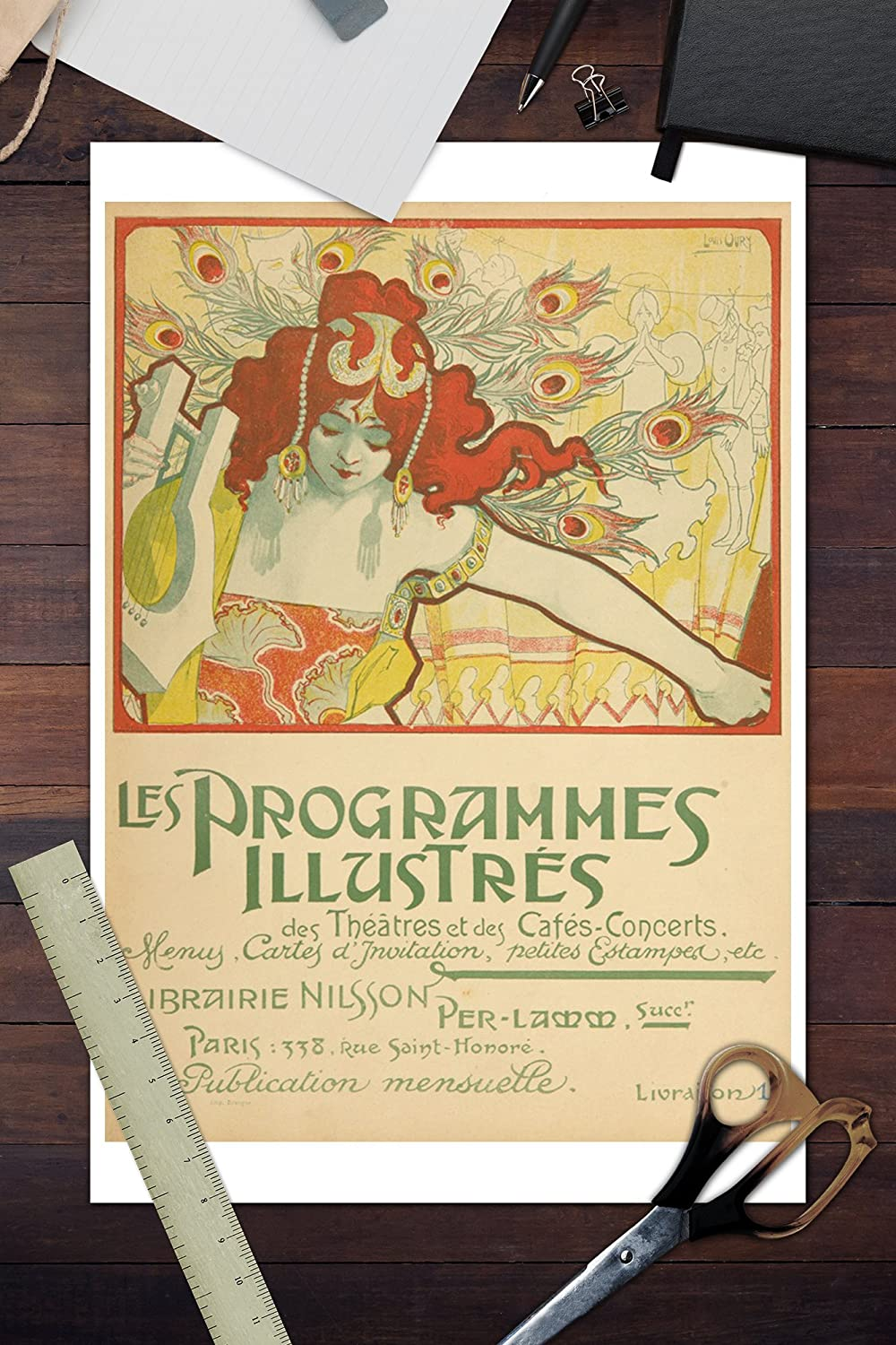 Amazon.com: Les Programmes Illustres, by Ernest Maindron Vintage Poster France c. 1897 (36x54 Giclee Gallery Print, Wall Decor Travel Poster): Arts, ...