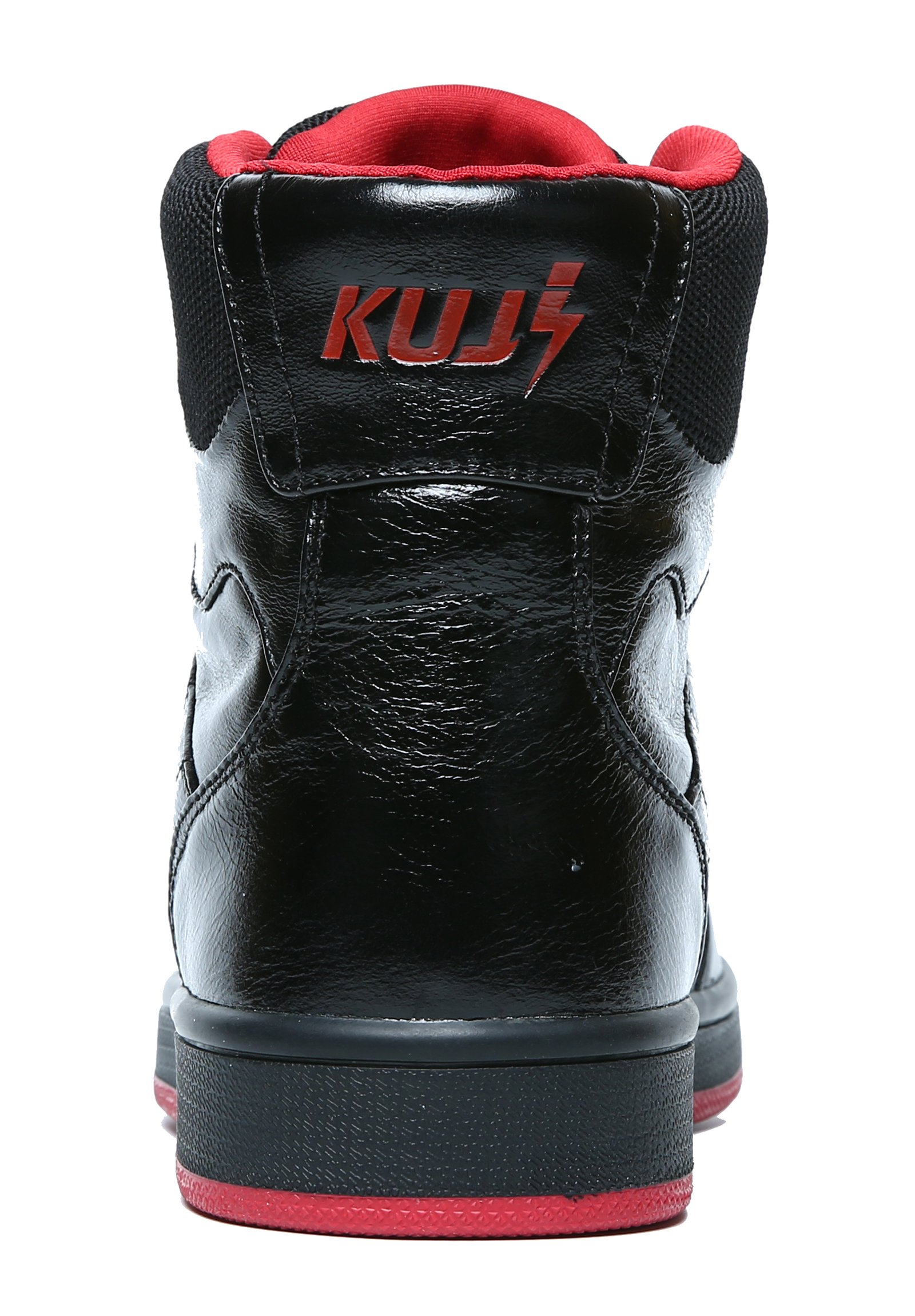 Soulsfeng Men Women High Top Skateboarding Shoes Flat Lace Up Cowhide Leather Casual Sneaker (Women 6.5 B(M) US, Black)