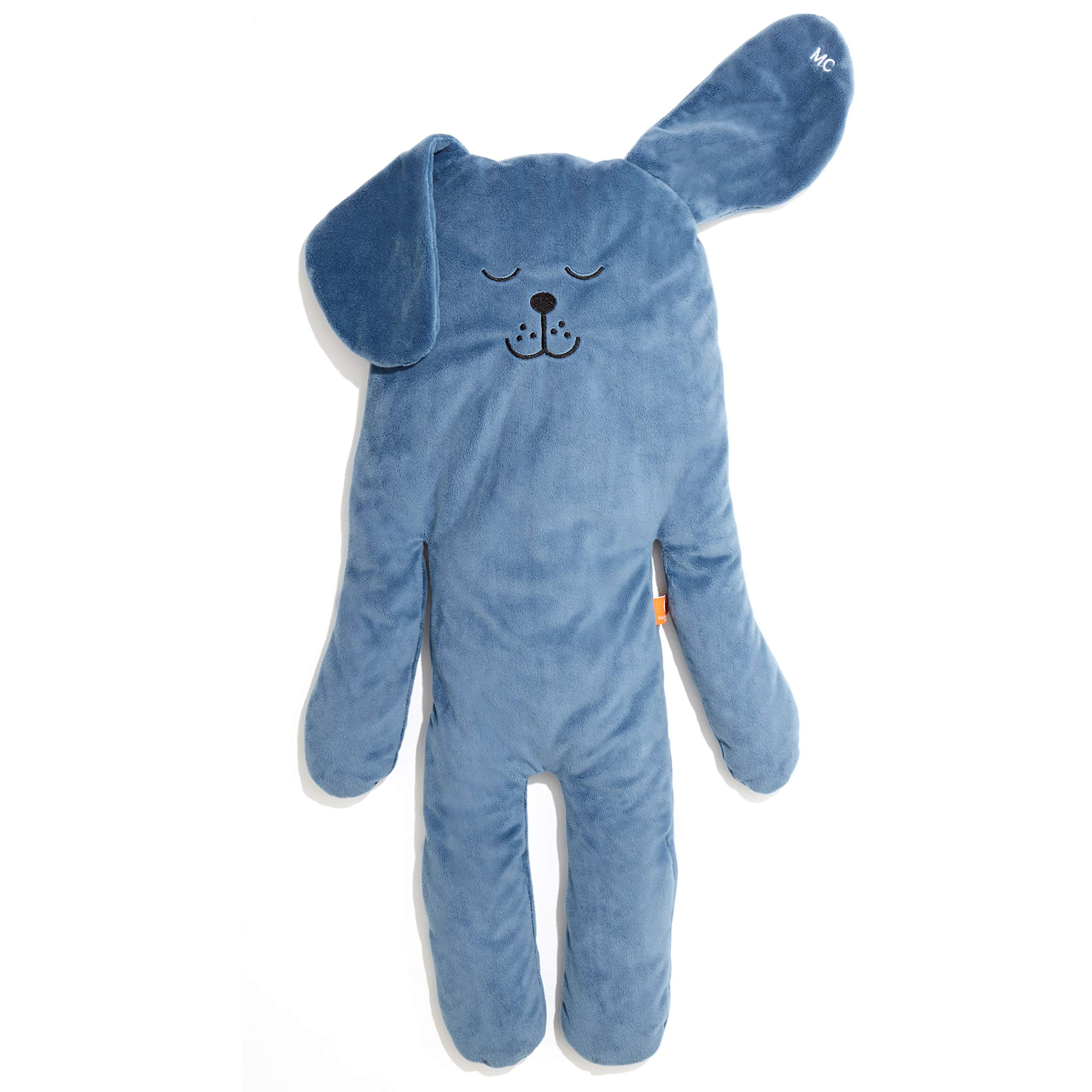 MODERN CUDDLE Cozy Minky Faux Down Stuffed Animal Body Pillow Plush Lovie 32'' Puppy Denim Blue Pet | Toddler and Kids Relaxing Soft Calming Toy | Unique Birthday Gift by MODERN CUDDLE