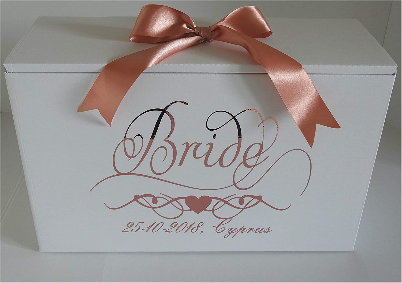 Wedding Dress Box Bride With Date Amazon Co Uk Kitchen Home