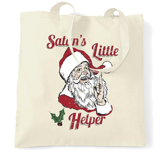 Anti Weihnachten Tragetasche Satans kleiner Helfer-Parodie Natural ...