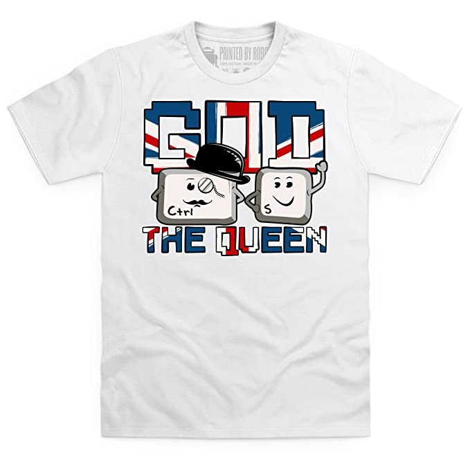 62136924a97e8 Shotdeadinthehead God Save The Queen Camiseta