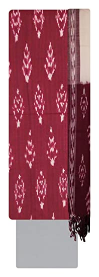 Bharathi ikat fabs Women's Cotton Unstitched Dress Material (Multi-Coloured)
