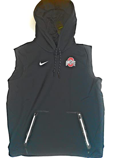 054a8610ec7db Image Unavailable. Image not available for. Color  Nike Men s Ohio State  Buckeyes Sideline Therma Vest Pullover Hoodie 846009-010 (Large)