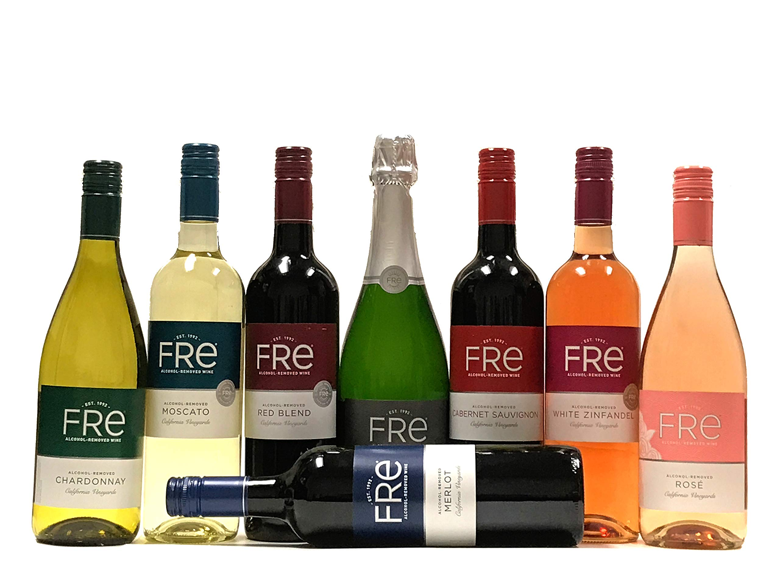 Sutter Home FRE Premium N/A Wine - 8 Bottle Non-Alcoholic Variety Pack Collection by FRE