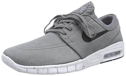 Nike Men's Stefan Janoski Max L Cool GreyBlackWhite Skate Shoe 7 Men US