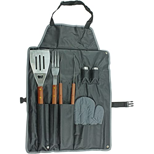 BBQ Tool Set and BBQ Apron Carry Case