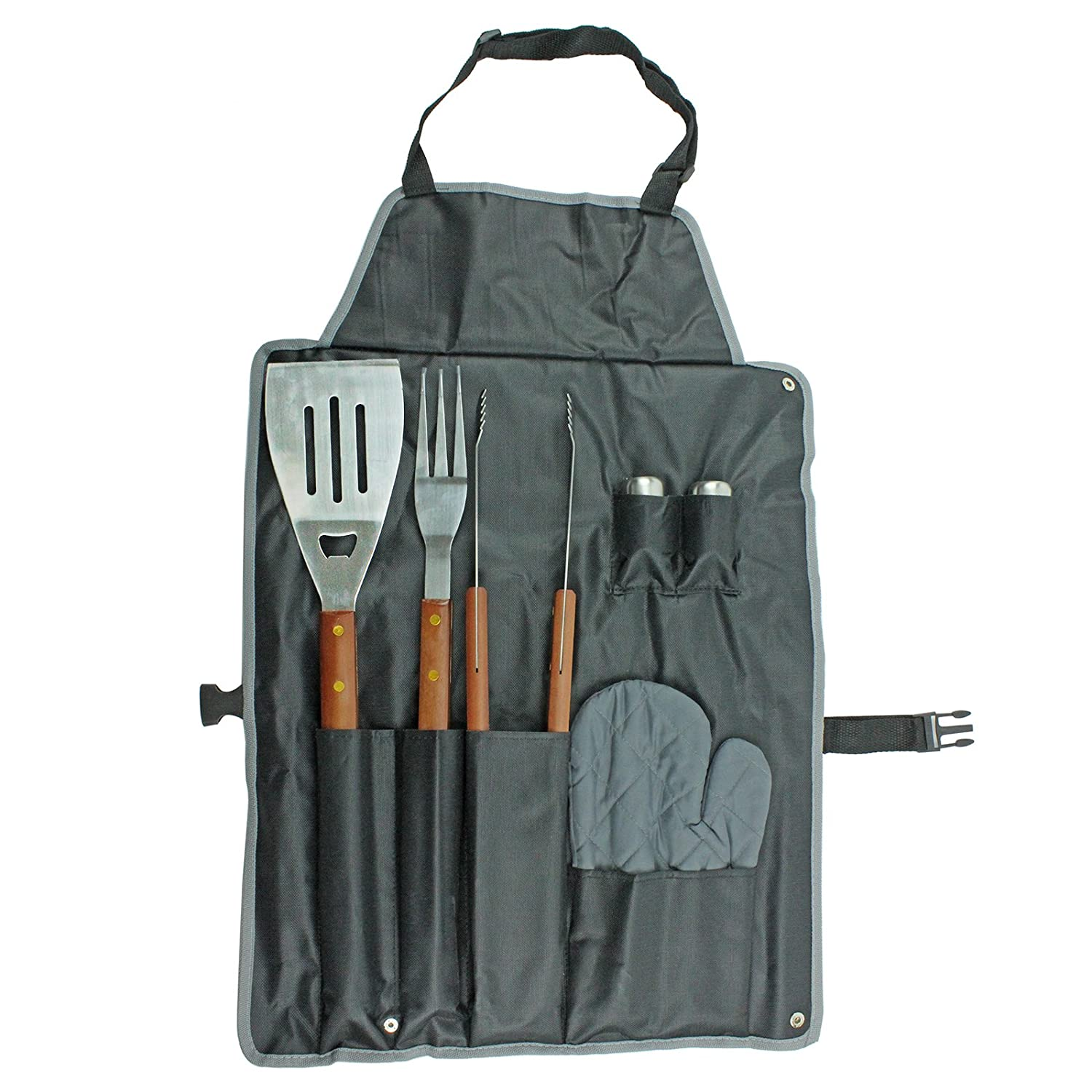 The Ulitimate Barbecue Grilling Apron /& 7pc Utensil BBQ Cooking Tool Set