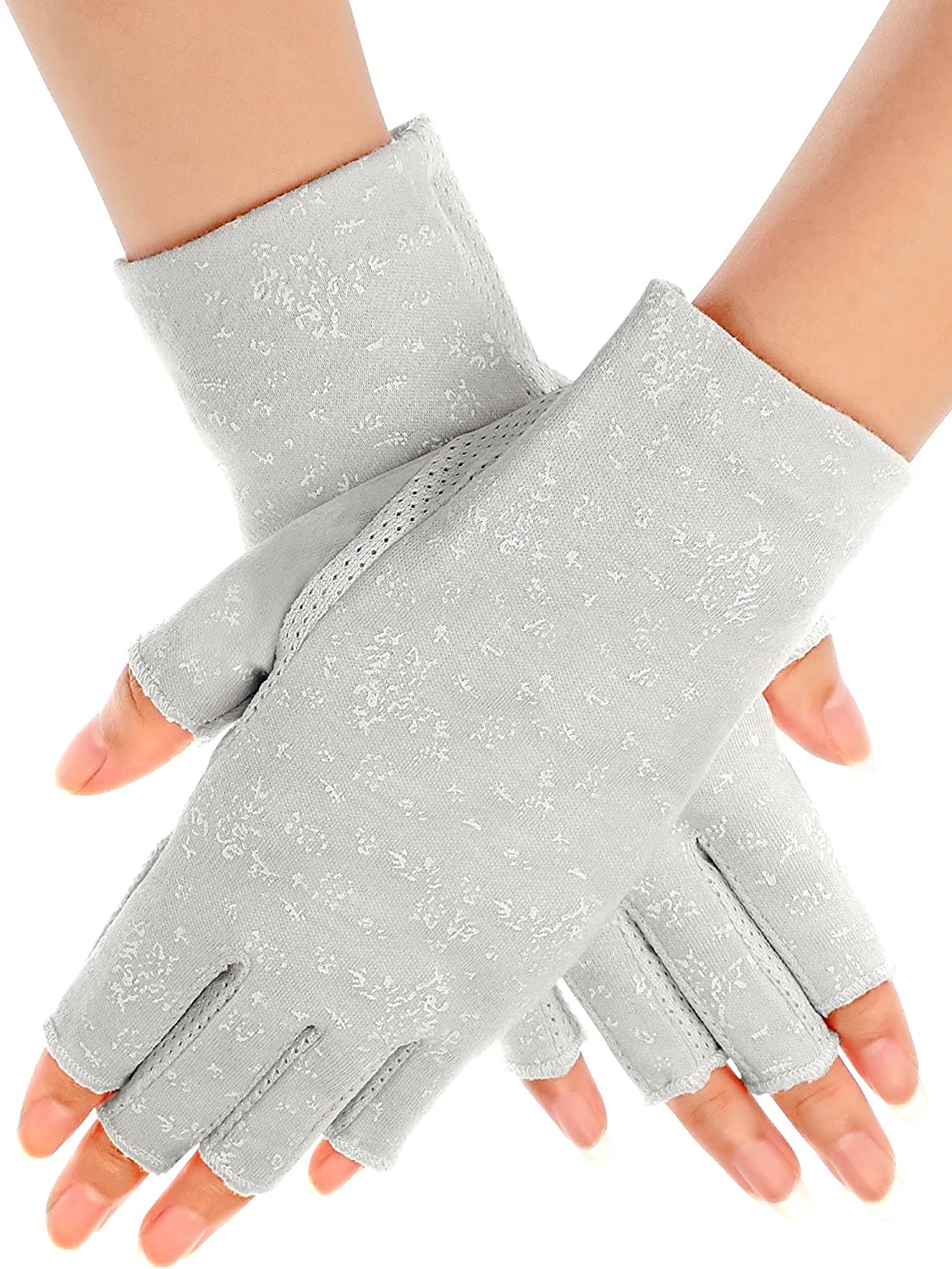 Maxdot Women Sunblock Fingerless Gloves Non Skid Summer Gloves UV Protection Driving Gloves