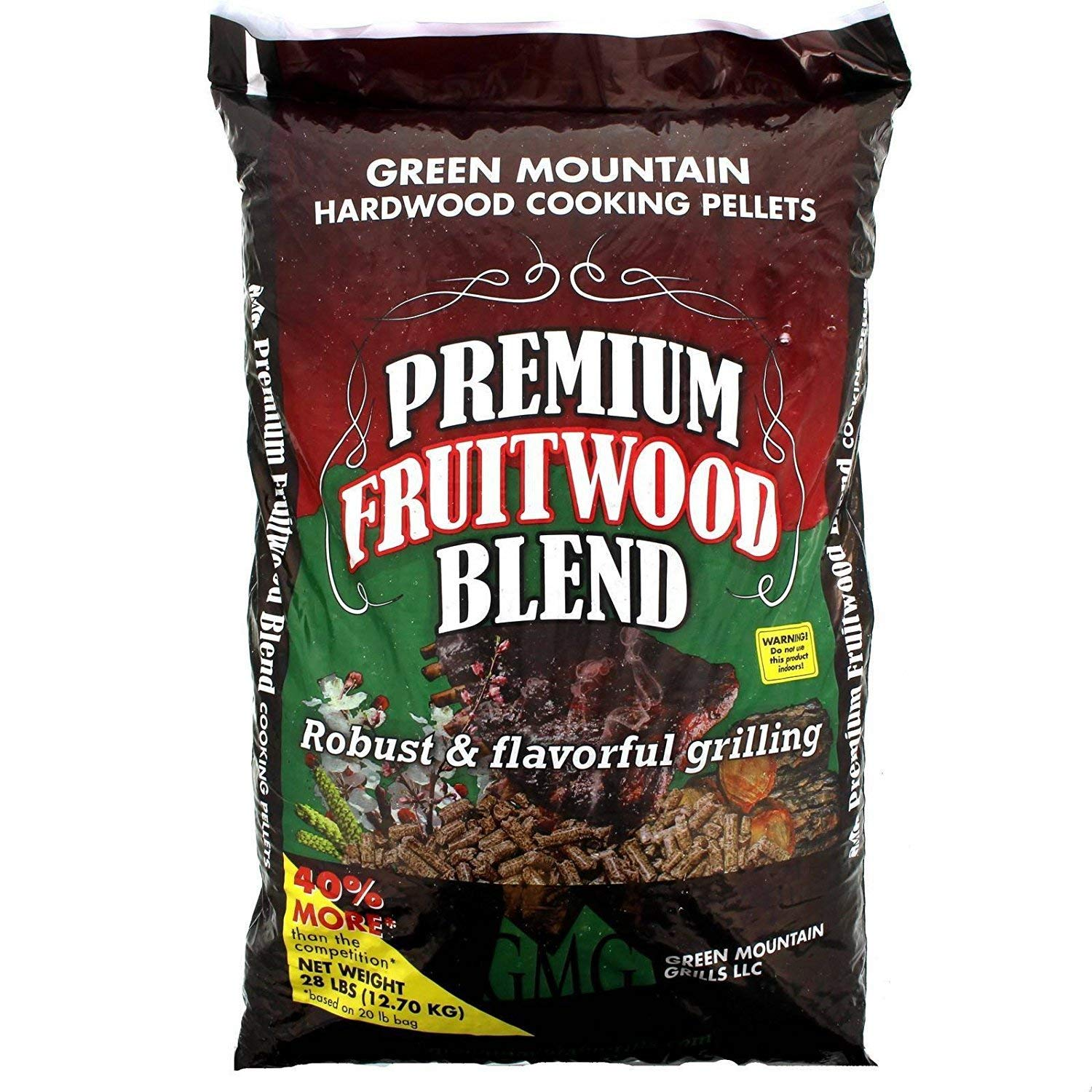 Green Mountain Grill Gmg-2003 Premium Fruitwood Blend Pellets 28 Lb Bag by Green Mountain Grills