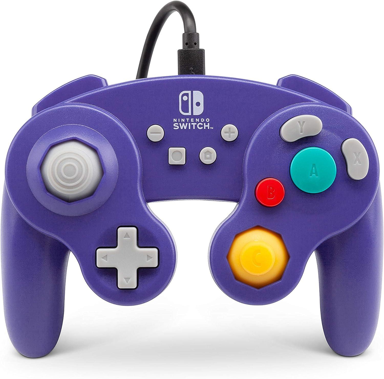 Mando Con Cable Estilo Gamecub, Morado (Nintendo Switch)