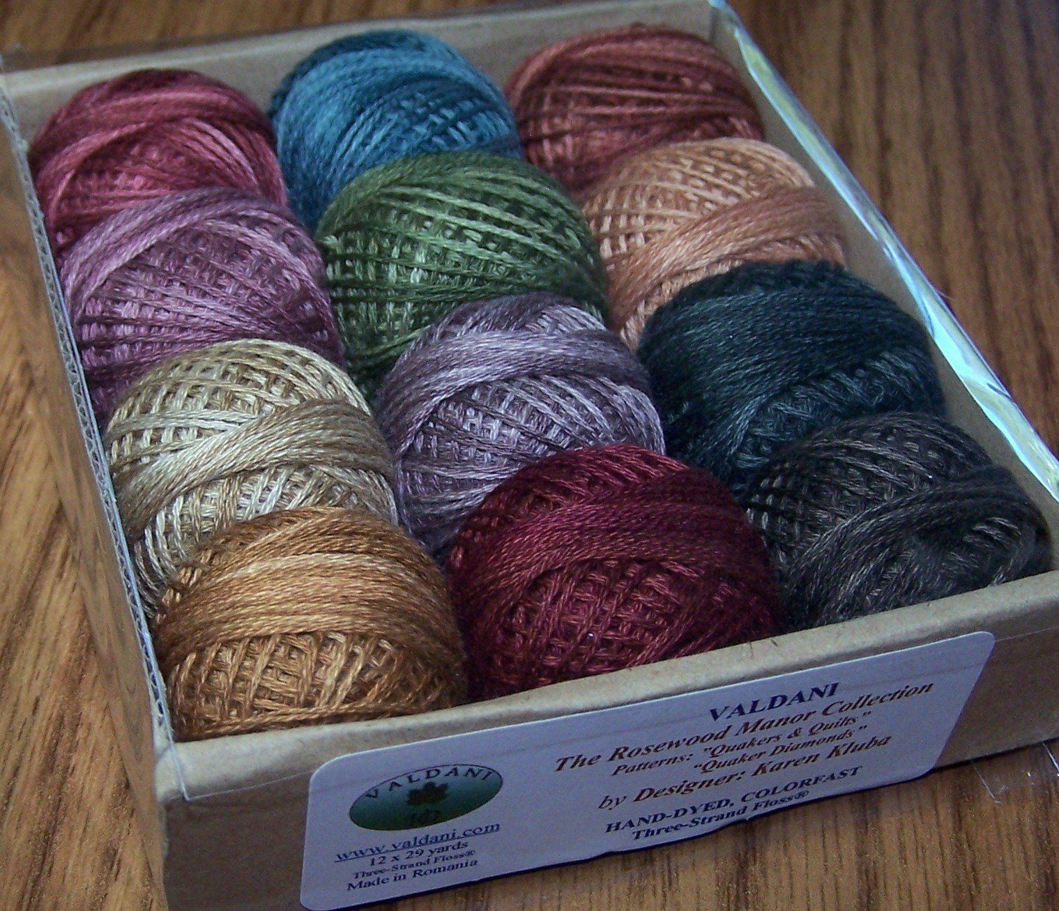 Valdani 3-strand cotton floss - Quaker Diamonds/Quakers & Quilts - Rosewood Manor by Valdani