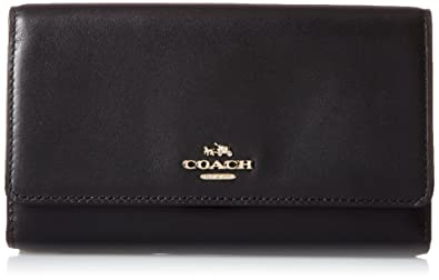 b64739f32e COACH Women s Smooth Leather Phone Crossbody Li Black One Size ...