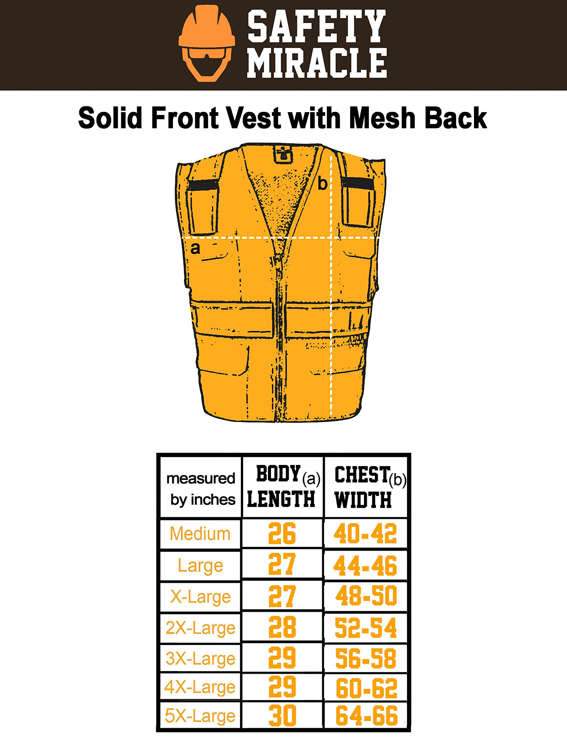 Custom Safety Reflective Mesh Vest with Zipper - Personalized Drone Pilot Vest by Safety Miracle (Image #5)