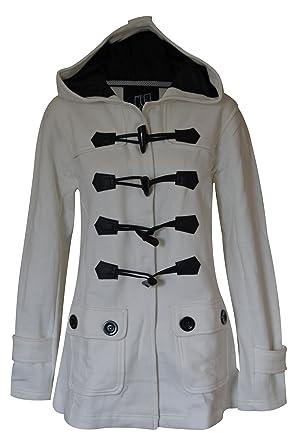 Womens Fleece Duffle Trench Coat: Amazon.co.uk: Clothing