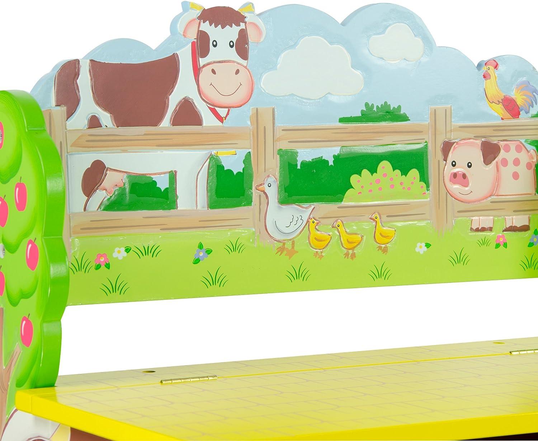 Fantasy Fields by Teamson Happy Farm Panchina per Stoccaggio Multicolore